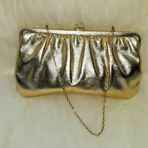 Vintage Gold Purse Swank